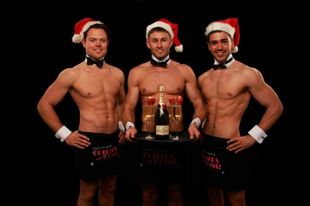 Our Butlers with Bums all ready for Christmas