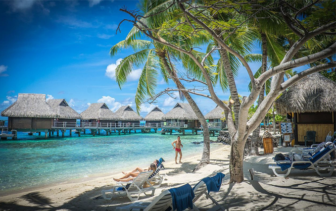 Honeymoon destination BORA BORA beach