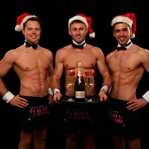 Our handsome Butlers all ready for Christmas