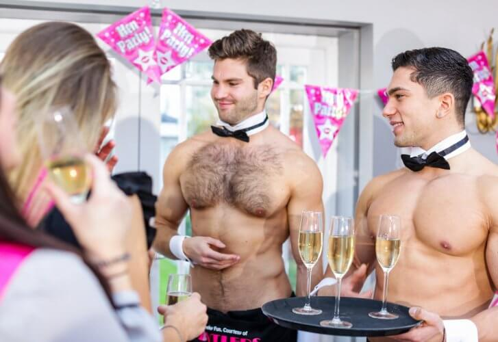 Naked butler at a hen do