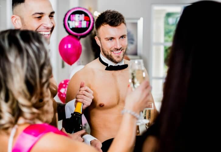 Buff Naked Butler at a Hen Do