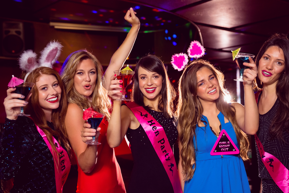 Hen party accessories such as sashes