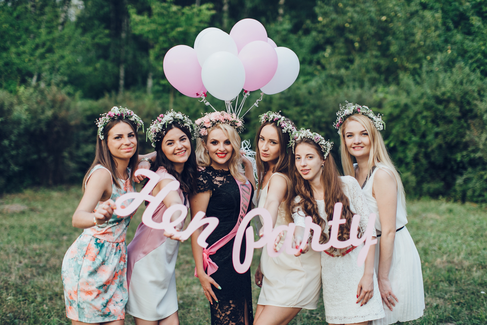 Bride and friends celebrate their unique hen party