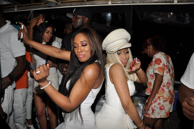 Nicki Minaj dancing at a party